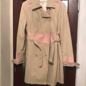 Pink and tan coat